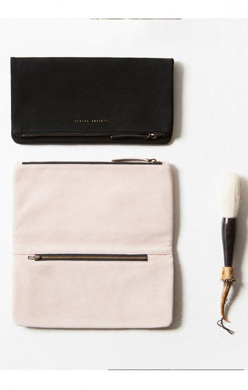 status anxiety feel the night wallet dusty pink grp