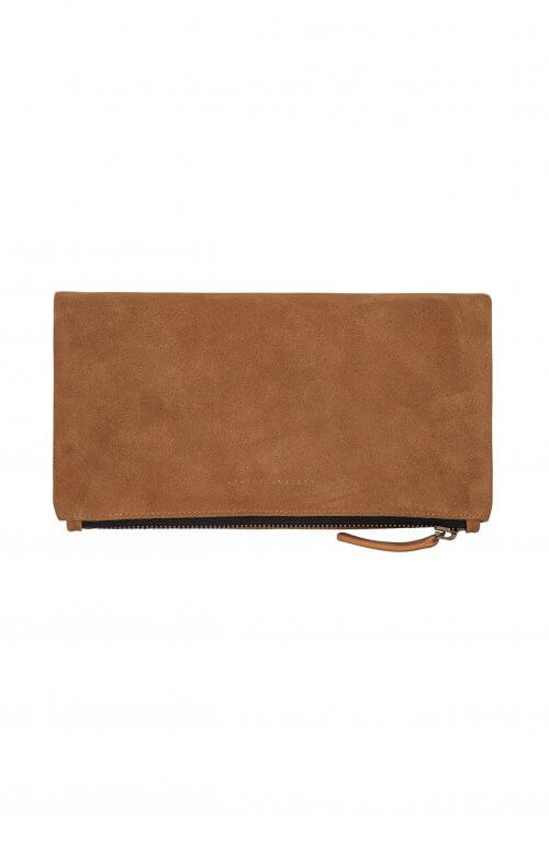 status anxiety clutch feel the night tan