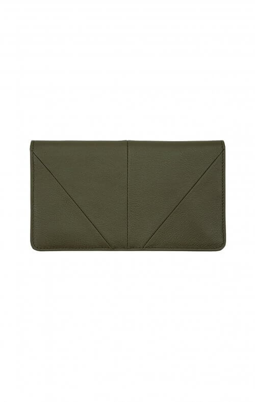 status anxiety wallet triple threat khaki
