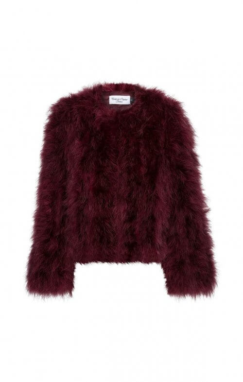 jorga feather jacket wine