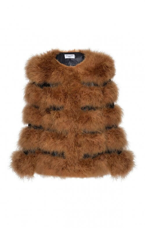 saige feather jacket camel