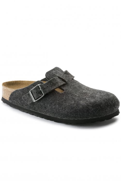 birkenstock boston wool felt anthracite