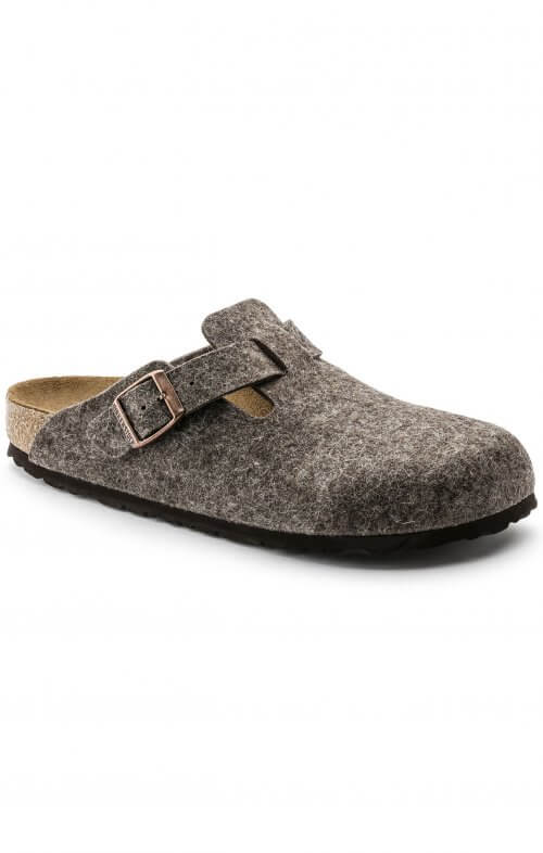 birkenstock boston wool felt cacao