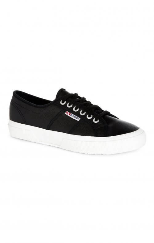 superga 2750 leather cotu black