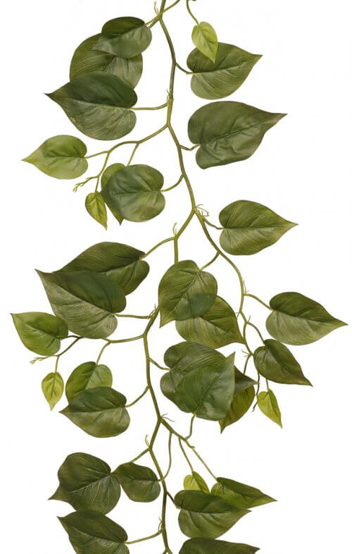 philodendron garland artificial green