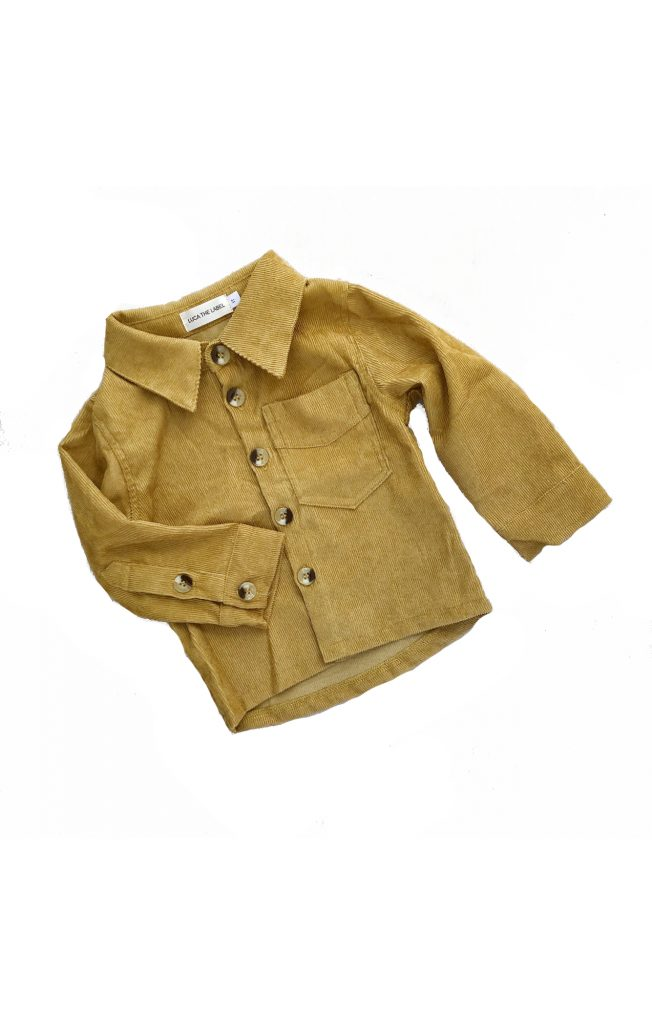 LUCA THE LABEL MAVERICK CORD SHIRT MUSTARD