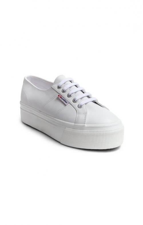 superga flatform 2790 white leather sneaker