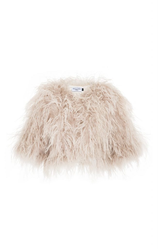 BIRDS OF FEATHER LUX OSTRICH FEATHER JACKET BLUSH