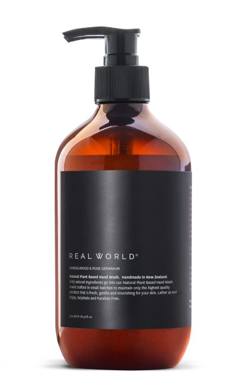 REAL WORLD SANDALWOOD ROSE GERANIUM HAND WASH
