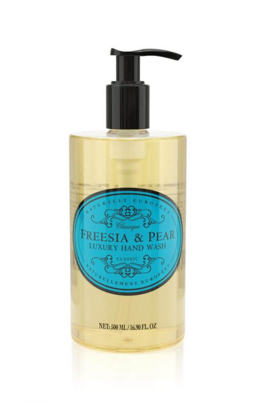 naturally european freesia pear hand wash