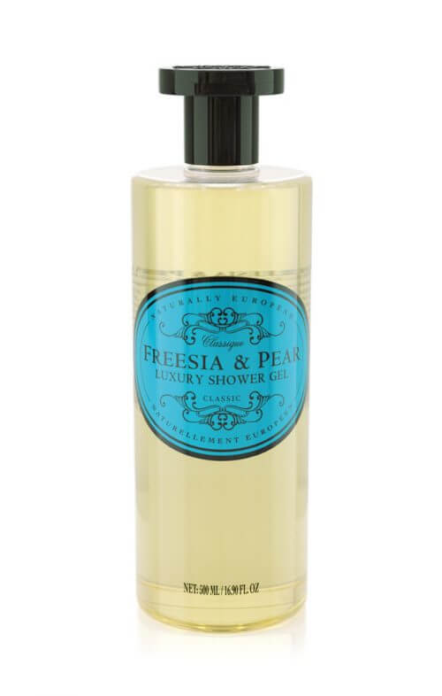 naturally european freesia pear shower gel
