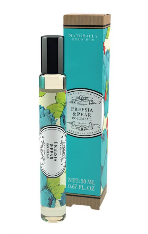 naturally european freesia pear roller perfume
