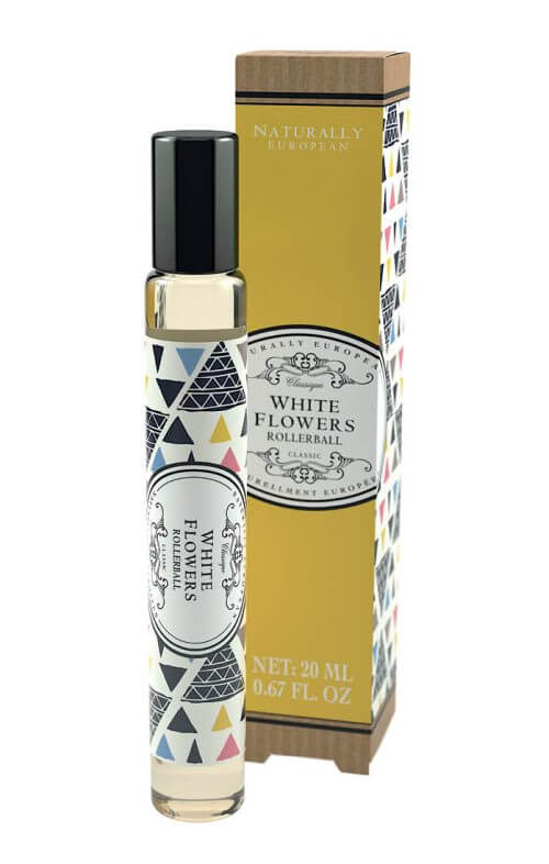 naturally european white flowers roller perfume