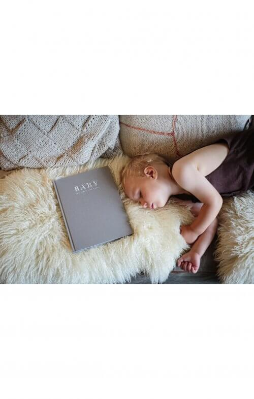 write to me baby journal birth to five years grey