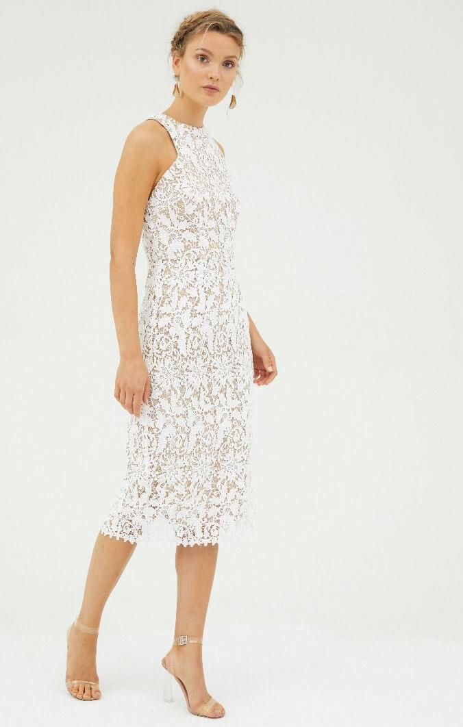 3818b4fc4ea3 snapdragon white lace dress. Sale!