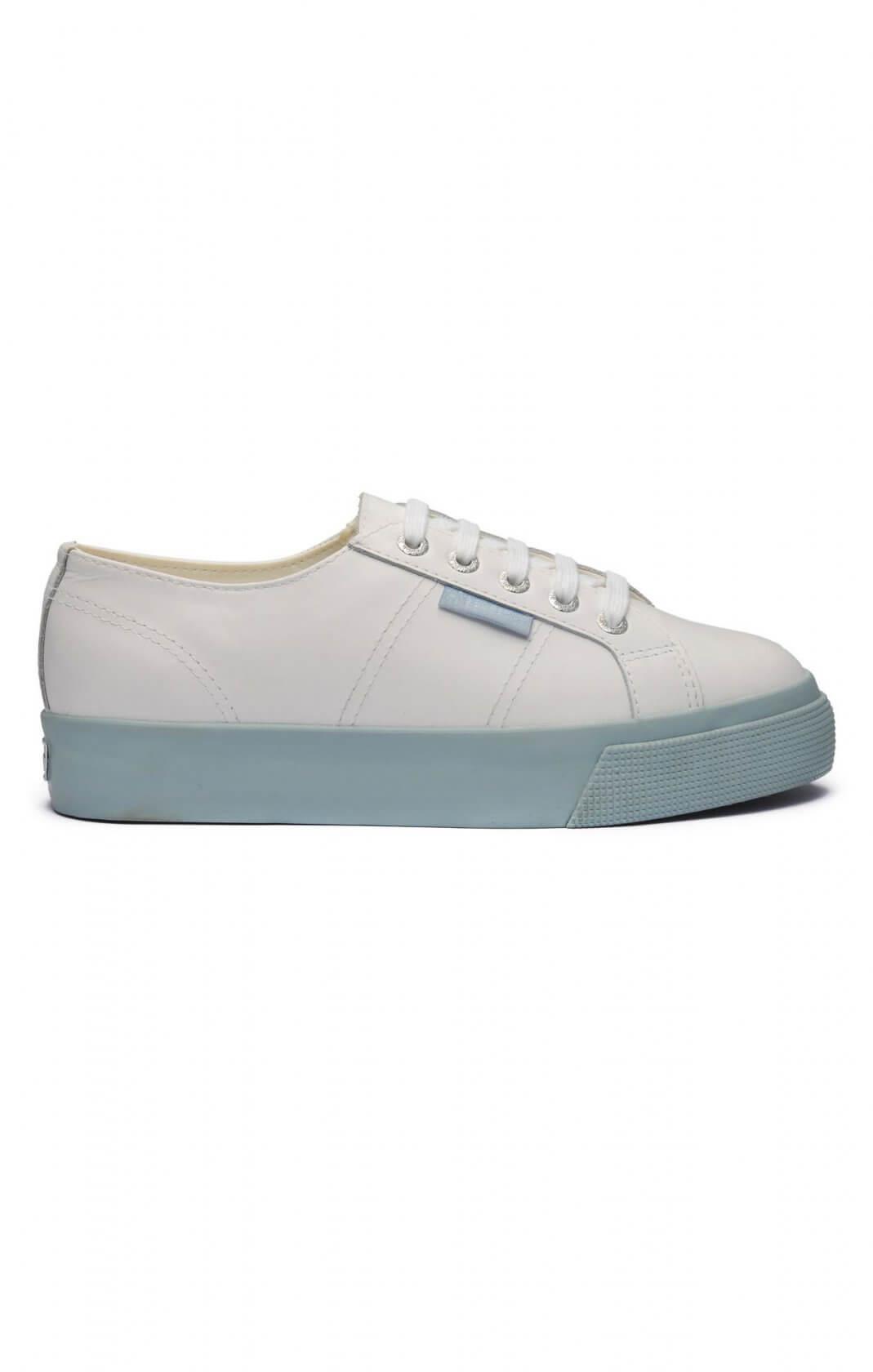 SUPERGA 2730 NAPPA LEATHER WHITE BLUE
