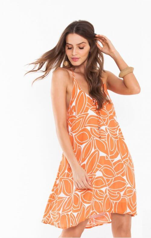 totem ylang dress botanic peach