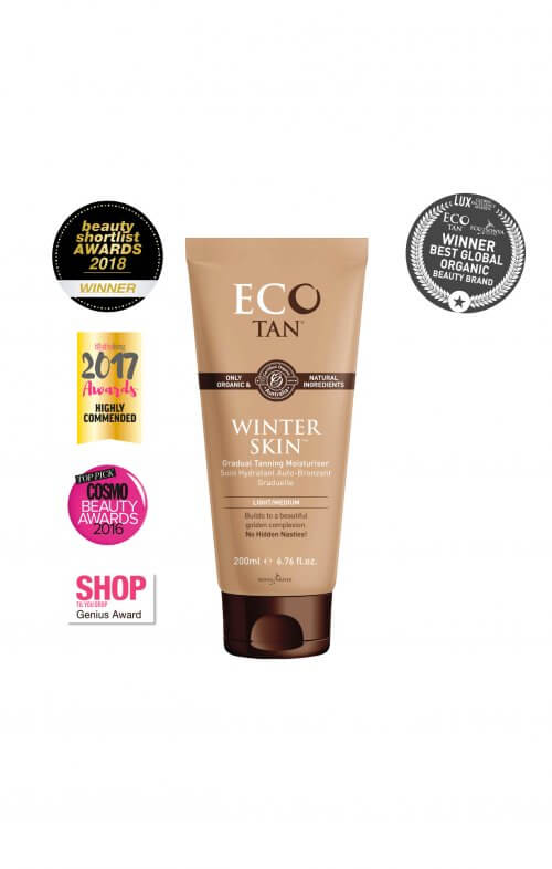 eco tan winter skin organic
