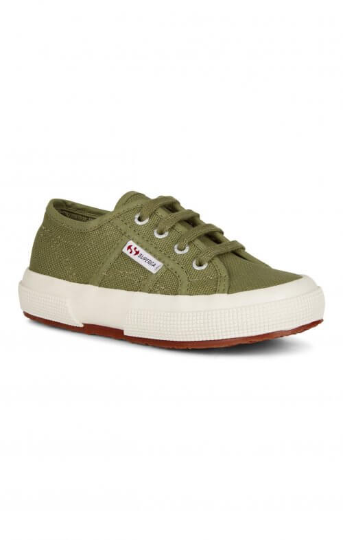 superga 2750 jcot kids olive green
