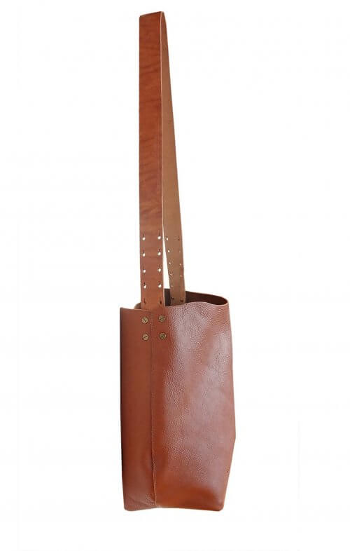 graine little bourke st leather bag tan
