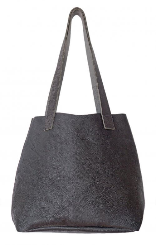 grain little lygon leather bag black