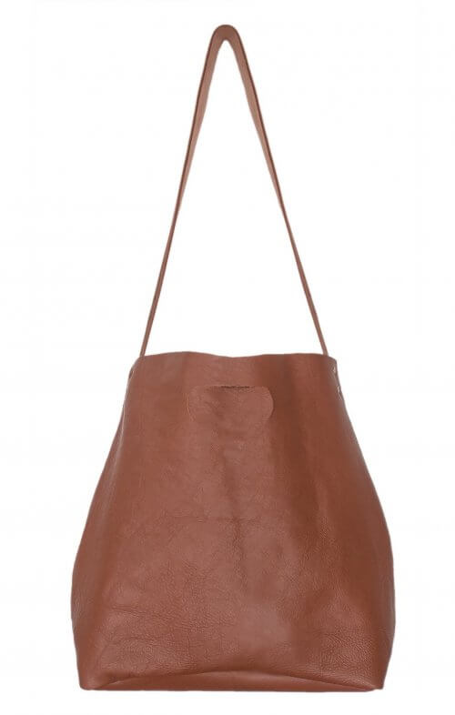 graine lygon luxe leather bag tan