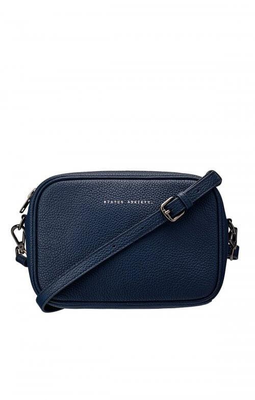 status anxiety plunder bag navy blue