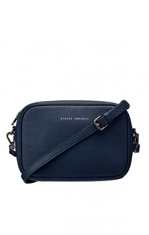 status anxiety plunder bag navy blue