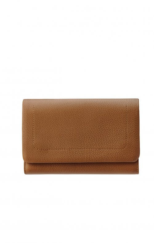 status anxiety remnant wallet tan