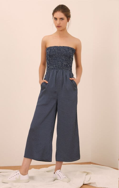 3f25e976bd2c the fifth label fountain jumpsuit navy white