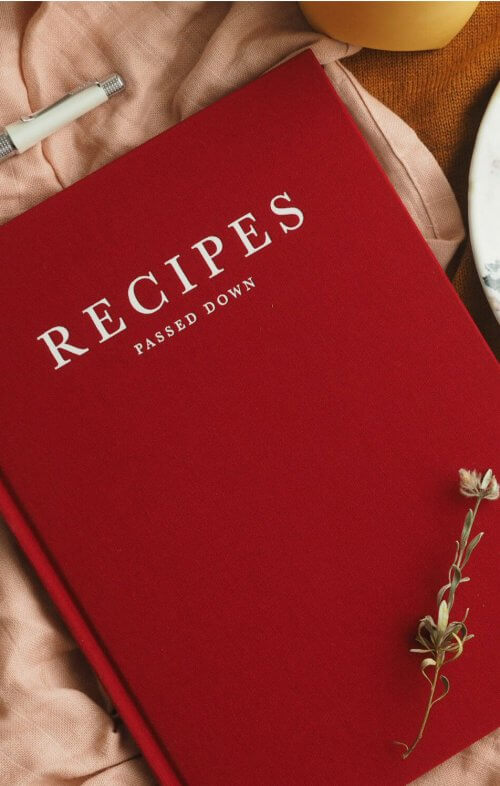 write to me recipes passed down wine