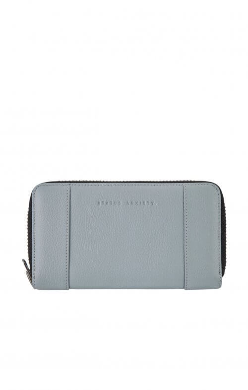 status anxiety state flux wallet arctic grey