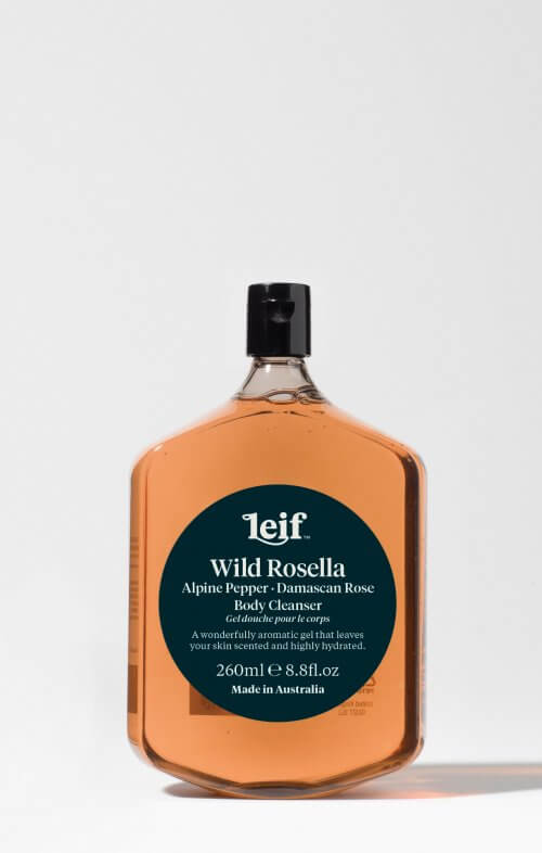 leif wild rosella body cleanser