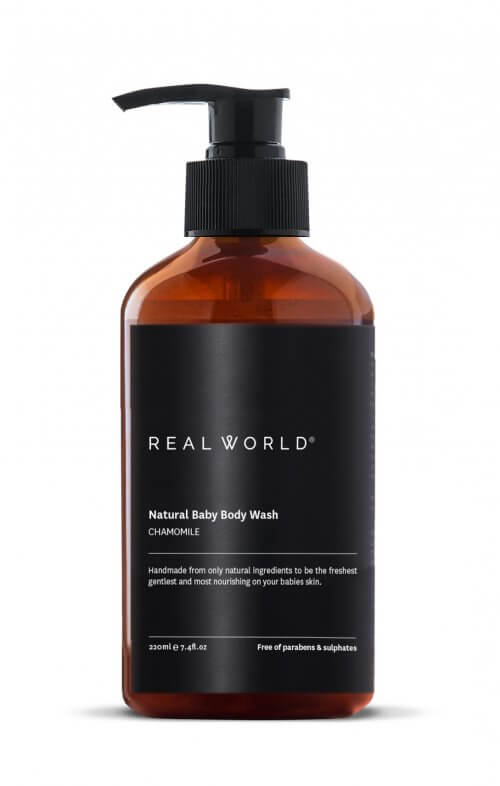 real world natural baby body wash chamomile