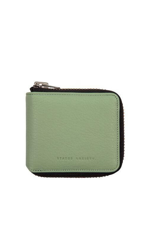 status anxiety cure wallet mint green