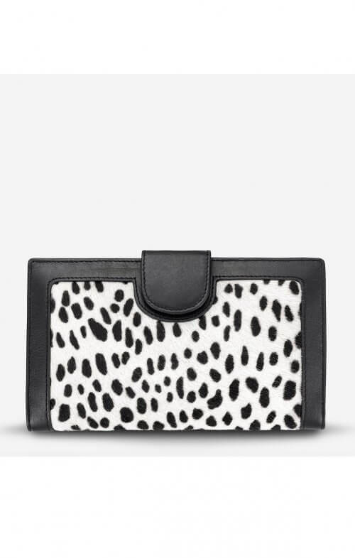 status anxiety doris wallet snow cheetah