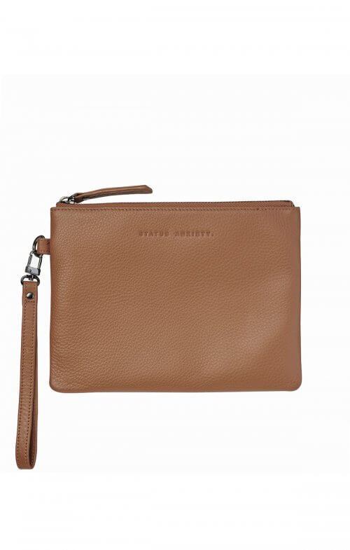 status anxiety fixation wallet tan