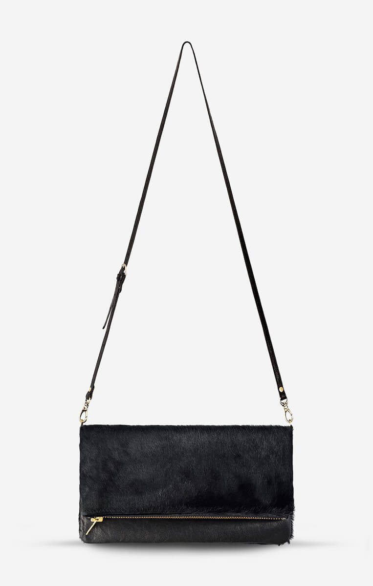 status anxiety gwyneth bag black fur