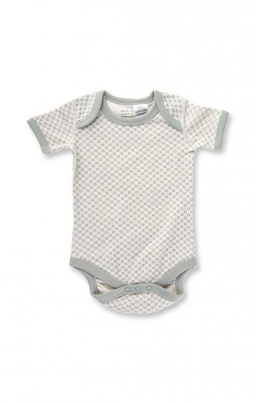sapling dove grey short sleeve bodysuit