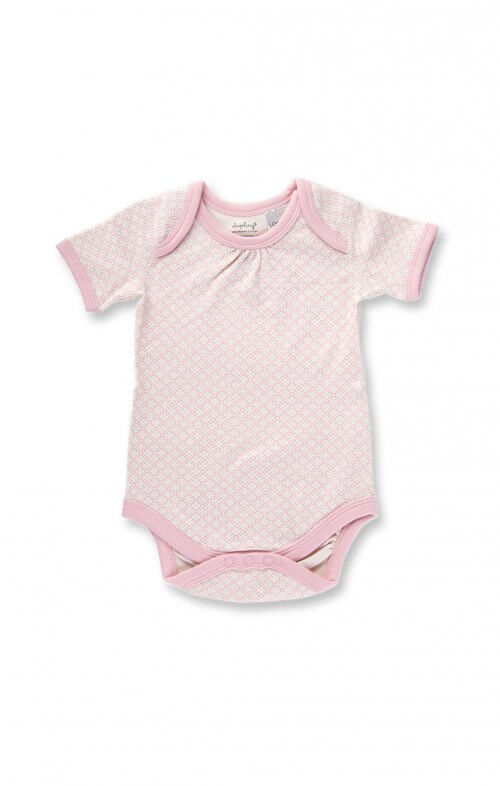sapling dusty pink short sleeve bodysuit
