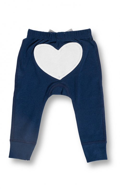 sapling heart pants bear blue