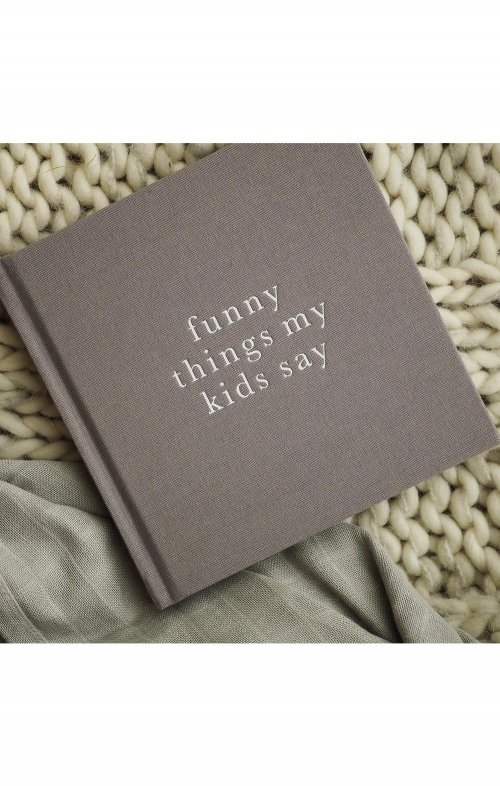 write to me funny things my kids say journal grey