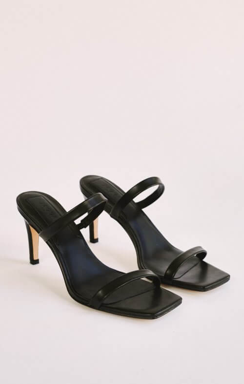 jaggar two strap heel black