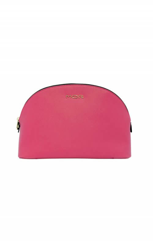 mor cosmetic bag grand deluxe black pink