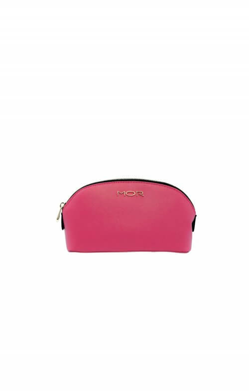 mor cosmetic bag petite black pink