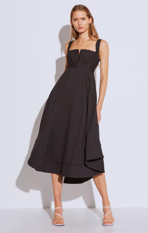 C/MEO COLLECTIVE STATEMENT GOWN BLACK