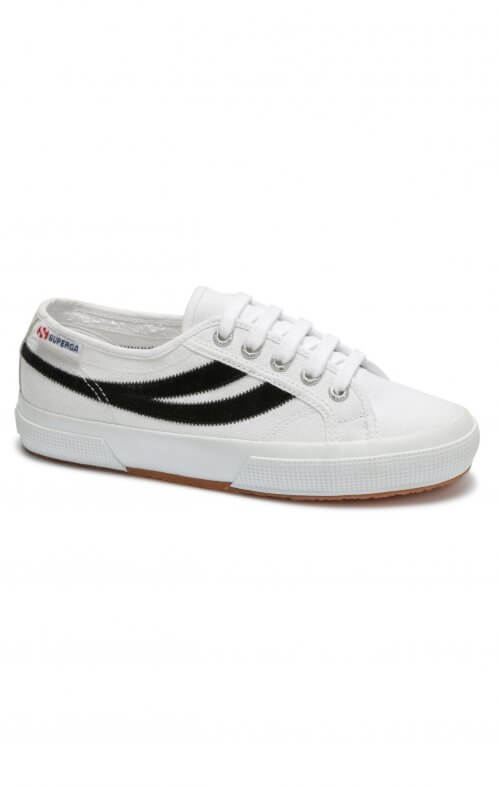 SUPERGA 2953 SWALLOWTAIL WHITE BLACK