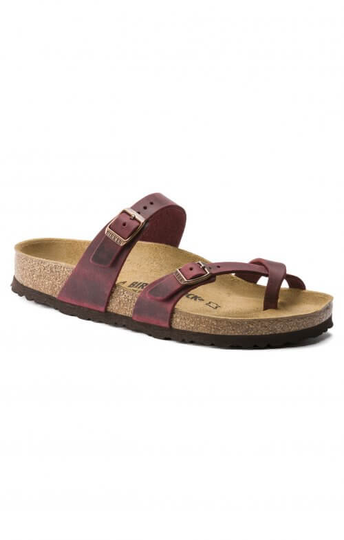 BIRKENSTOCK MAYARI ZINFANDEL OILED LEATHER
