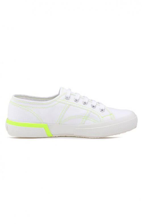 SUPERGA 2750 DOUBLEBUMPER WHITE YELLOW FLURO