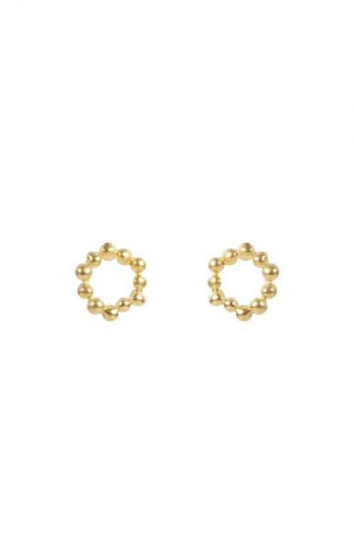 FAIRLEY JEWELLERY EARRING ATOM STUDS GOLD